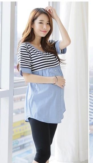 c64ac698ecfb4 2018Hot Breastfeeding Blouses Feeding Cotton Maternity Shirt Pregnancy Tops  Nursing Shirts Maternity Clothes for Pregnant Women