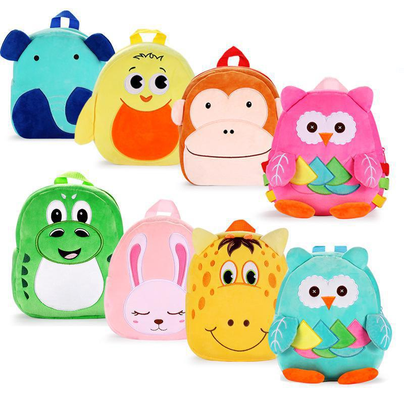 LXFZQ School Bags 2019 Cartoon Kids Plush Backpacks Mini Schoolbag Plush Backpack Children School Bags Girls Boys Backpack Kids