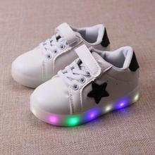 Children s casual shoes autumn 2016 toddler boy s fashion brand sport movement LED flash shoes