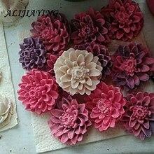 3D Hoa Cúc Xà Phòng Nhựa Khuôn Kẹo Sô Cô La Silicone Khuôn Bánh hoa Fondant Bánh Trang Trí Công Cụ D0158