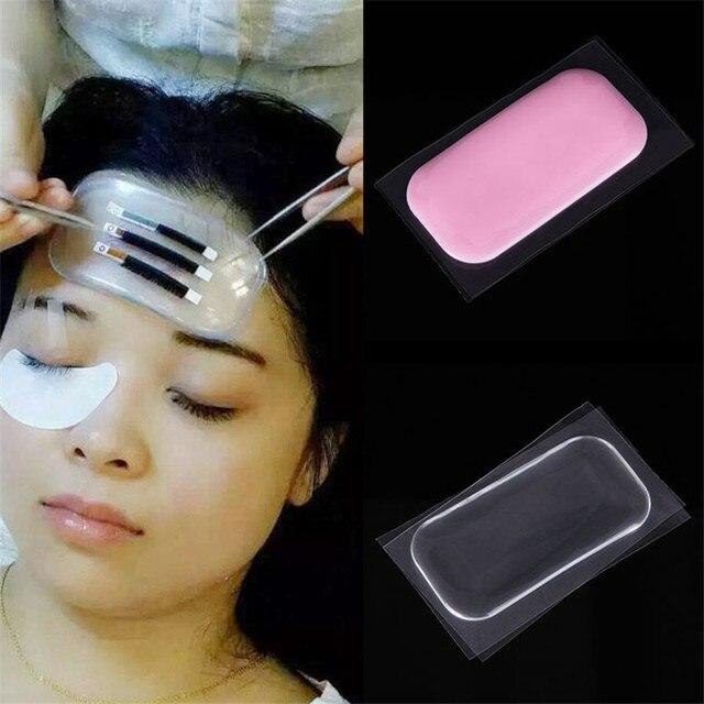 1Pcs Grafting Tools Fake Eyelash Silicone Pad False Eyelashes Holder Isolated Patches Maquiagem Forehead Pads Makeup Organizer