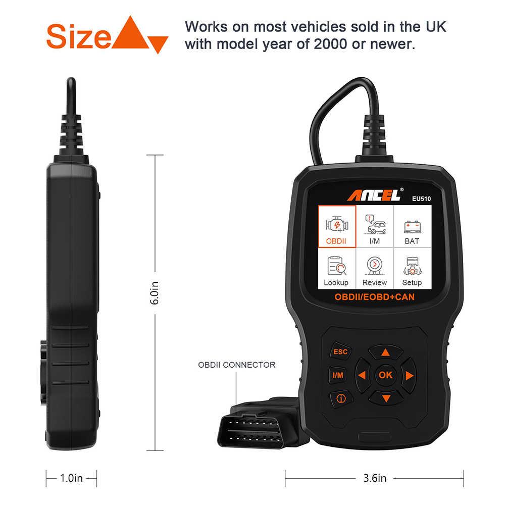 Ancel EU510 OBD2 Scanner Voor Citroen Peugeot Renault 15 Taal Engine Code Reader Obd ODB2 Automotive Auto Diagnostic Tool