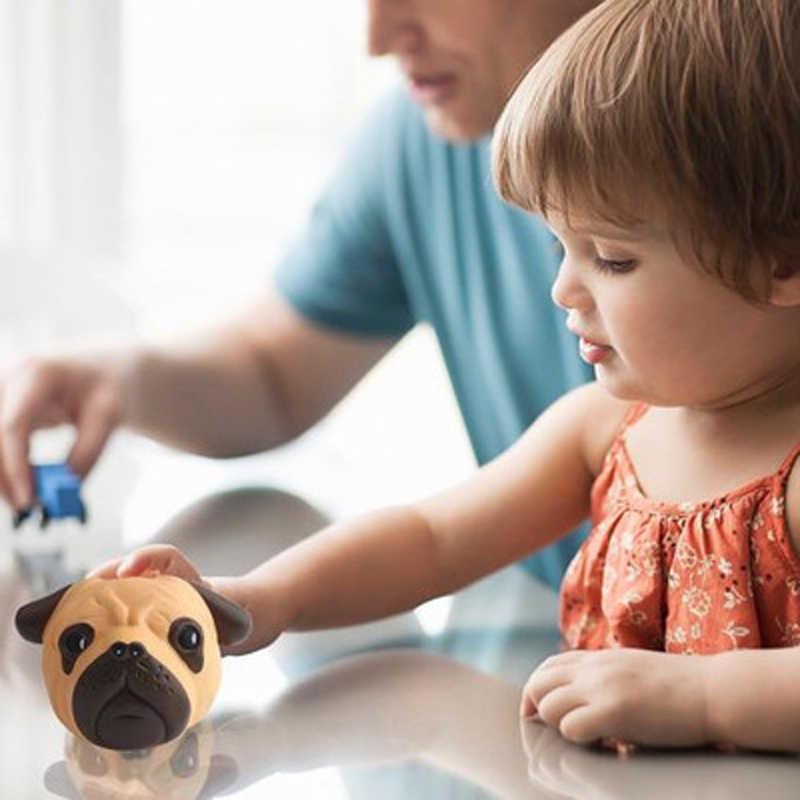 Lento Aumento Sério engraçado uma Cabeça de cão Squeeze Squishes Anti-stress Brinquedos Macios macios Animais Brinquedos Para As Crianças com As Mãos Livres telefone Anti-stress