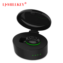 Bluetooth 4.2 Earphones Sports Mini Bluetooth Headset Hands Free Wireless Earphones with Power Storage Box LJ-MILLKEY YZ112