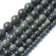 Natrual Stone Beads Dark Green Lace Jasper Stone Round Beads For Jewelry Making Bracelet Necklace 4/6/8/10/12mm 15inches(China)