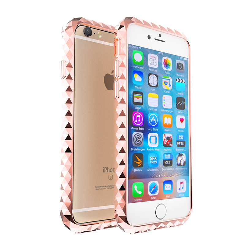 For Apple iPhone 7 Case diamond Crystal Luxury Fashion Aluminum Metal Bumper For Apple iPhone 7 Plus Case diamond 7Plus Bumper