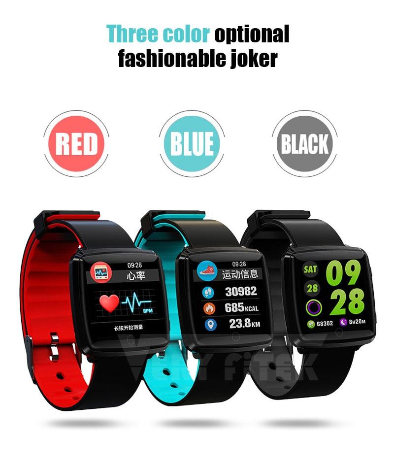 VERYFiTEK Smartwatch Blood Pressure Heart Rate Monitor Men Women Sport Watch Pedometer Stopwatch Smart Watch for IOS Android (4)
