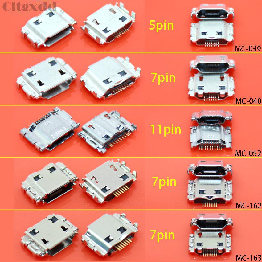 10pcs Micro USB Jack Connector Female 11 pin Charging Socket For Samsung Galaxy
