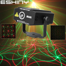 ESHINY Mini R G Laser 2 Pattern Whirlwind Projector Club Party Bar Disco DJ Equipment Light