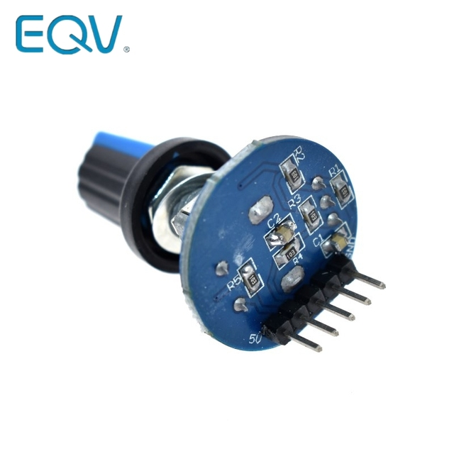 Rotary Encoder Module for Arduino Brick Sensor Development Round Audio Rotating Potentiometer Knob Cap EC11 4