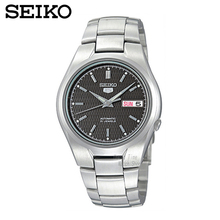 Seiko relógio escudo 5 moda oblíqua xadrez relógio mecânico masculino assistir snk605k1 snk601k1