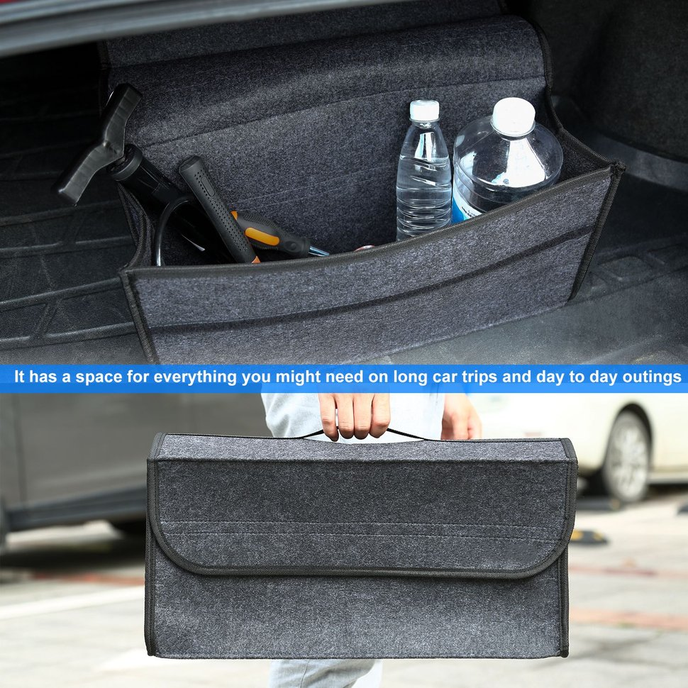 5pcs Collapsible Non-woven Fabrics Material Folding Flat Storage Organizer For Car 5pcs collapsible non woven fabrics material folding flat storage organizer for car