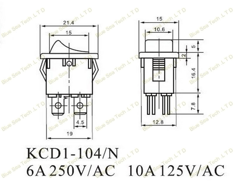 4 pin rocker switch 125v wiring diagram