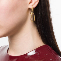 New style rope knot earrings invisible personality copper and gold
