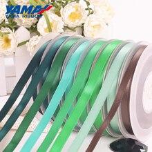 YAMA Single Face Satin Ribbon 100yards/lot 50 57 63 75 89 100 mm Green Dressmakers Designers Decorators Brides and Packing