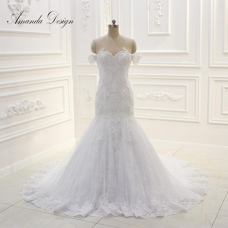 Wedding Gown Patterns With Sleeves: Vestido De Noiva Off Shoulder Short Sleeve Lace Appliqued
