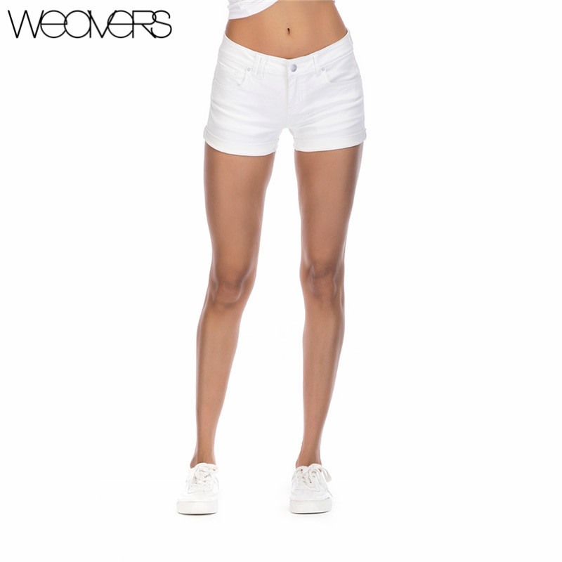 New Arrival Skinny Casual Shorts Denim Shorts for Women White Summer Shorts Girls 2018 Sexy Leg Curling Women's Short Jeans