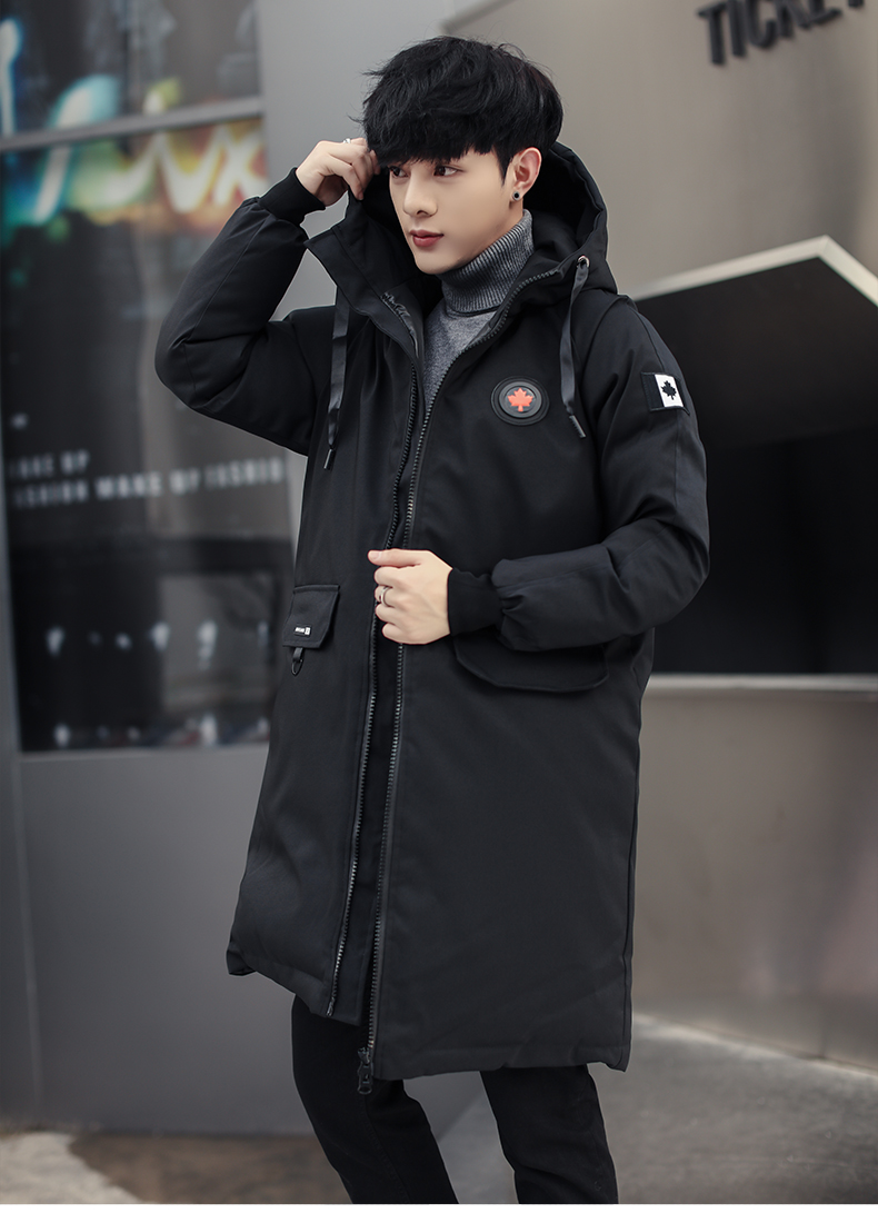 long parkas winter jacket men 18 New warm Windproof Casual Outerwear Padded Cotton Coat Big Pockets High Quality Parkas Men 6