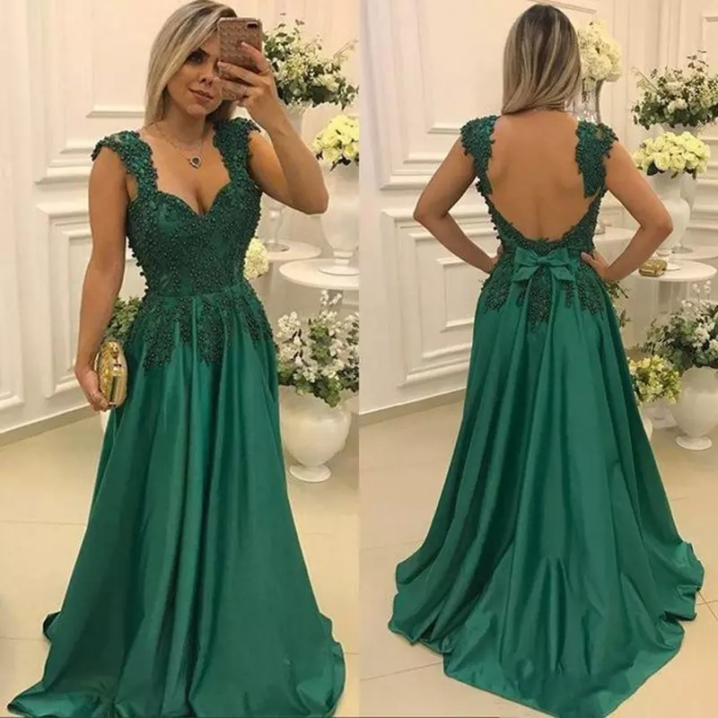 2a7fdaf87ca8 Green Mother of the Bride Dresses for Weddings Lace Beaded Spaghetti Straps  Evening Prom Groom Godmother
