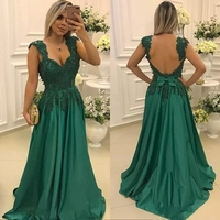 Green Mother of the Bride Dresses for Weddings Lace Beaded Spaghetti Straps Evening Prom Groom Godmother Dresses Evening Gowns
