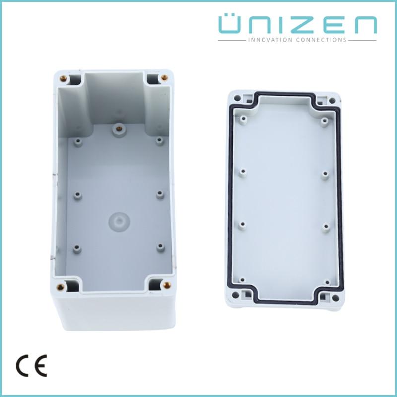 UNIZEN AG-0816-9 Waterproof Plastic Enclosure Box Electronic Project Instrument Case Outdoor Junction Box 160x80x95mm Connectors все цены