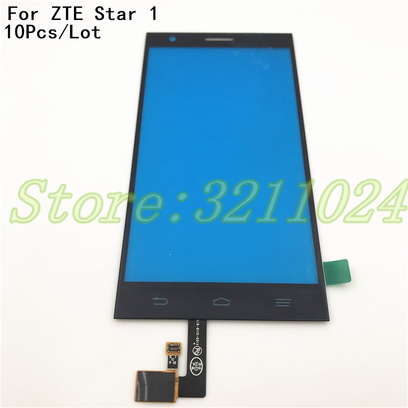 10PcsLot 5.0 inches Touch Glass High Front Glass Touch Screen Digitizer Panel For ZTE Star 1 star1 S2002 Lens Sensor With Logo