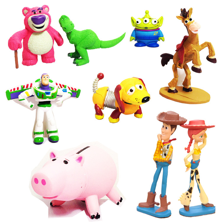 Toy Story mini figures 9 pcs set Cartoon & Anime Woody Rex