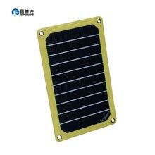 Cargador de Panel Solar Xinpuguang 5W 5V ETFE móvil de calidad Flexible eficiente portátil para teléfono de 5V 3,7 V cámara cuatro ojales
