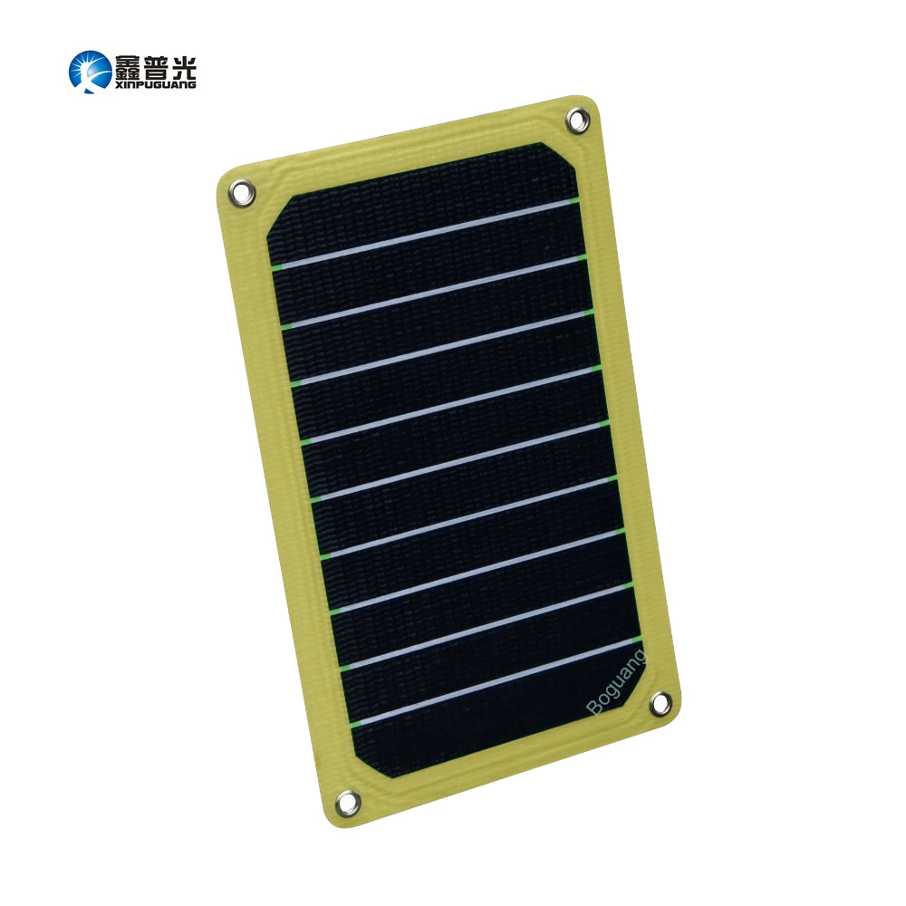 Xinpuguang Solar Panel Charger 5W 5V ETFE Portable Efficient Flexible Quality Cell for 5V 3.7V Phone Camera Four Eyelets image