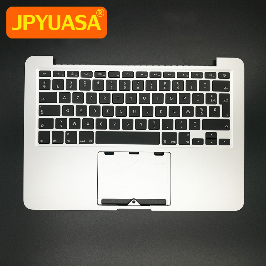 New A1502 Topcase Keyboard For Apple MacBook Pro Retina 13 A1502 Top Case Palmrest French Layout 2013 2014 Years new a1502 topcase for macbook pro retina 13 a1502 palmrest top case housing with switzerland keyboard and backlight 2013 2014