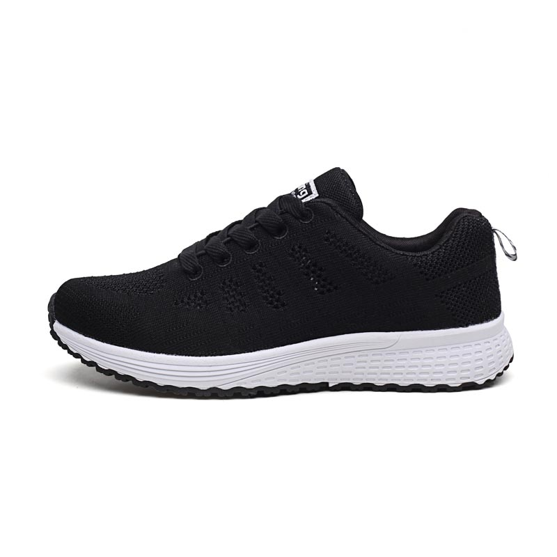 Akexiya Fast Delivery Women Casual Shoes Fashion Breathable Walking Mesh Lace Up Flat Shoes Sneakers Women 2019 Tenis Feminino
