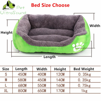 ULTRASOUND PET Dog Kennel Soft Dog beds Puppy Cat Bed Pet House for Small and medium Dog Pad Winter Warm Pet Cushion Pet Product 1