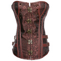 2016 New Vintage Plus Size Steampunk Corsets And Bustiers Waist Ttraining Steel Bone Top Gothic Button Spliced Women's Corset