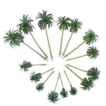 15pcs Scenery Model Coconut Palm Trees HO O N Z Scale Figurines Miniatures Decoration Crafts Home Decor(China)