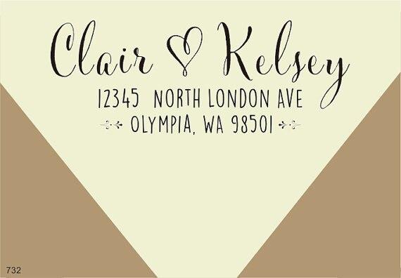 Beautiful Wedding Return Address Stamp Contemporary - Styles & Ideas ...
