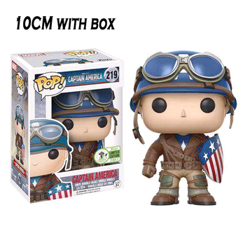 FUNKO Pop CAPTAIN AMERICA Model Figure Collectible Model Toy PVC Action Figure Kids Boy model Doll Toy 10CM with box halloween toy gift marvel avengers action figure collection 27cm pa captain america model doll movable decorations