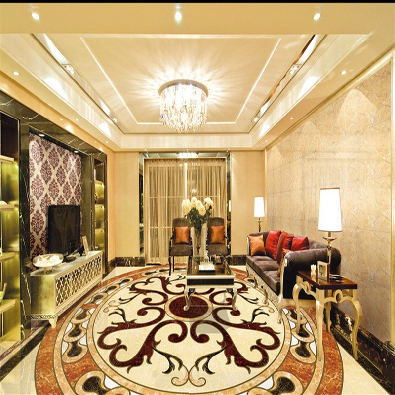 beibehang Define any size marble floor bathroom 3d flooring tiles waterproof self-adhesive papel de parede 3d wallpaper tapety
