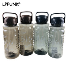 Bpa-free 1500ml Creative Portable straw sports outdoor water bottle large capacity sport travel tea camping kettle with handle