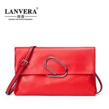 Lanvera/lang Wei Новинка 2017 кожи и конверт ужин женские мини плеча Креста сумочка