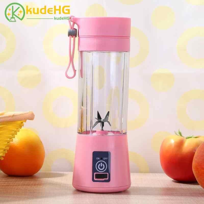 380ml Recarregável USB Misturador Liquidificador Smoothie Maker para Uso Doméstico Portátil Mini Juicer Máquina de Suco Extrator De Suco De Pequenas Gota 58