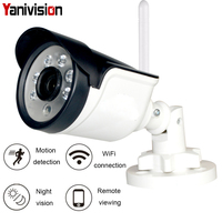Camhi IP Camera Wifi 1080P 960P 720P ONVIF Wireless Wired P2P CCTV Bullet Outdoor Camera With MiscroSD Card Slot