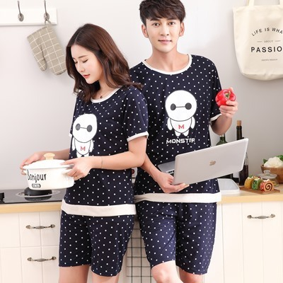 100% Cotton Casual Couple Animal Pajama Set Sleepwear 2