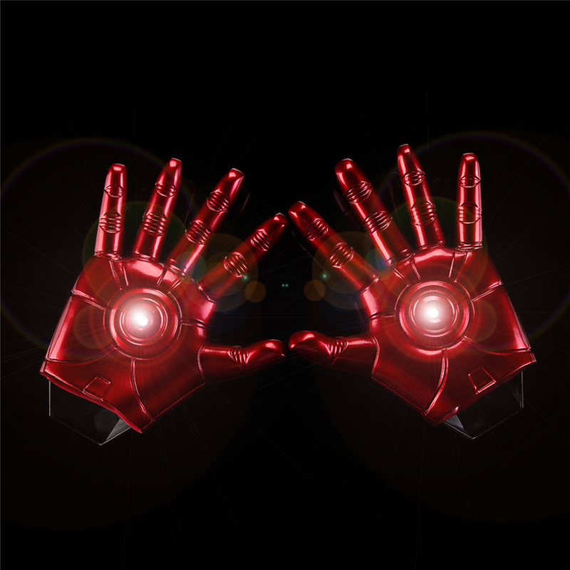 The Avengers Iron Man Action Figure Collection Toys LED Flash Gloves Light Dolls PVC Juveniles Chritmas Gift Cosplay Toys HZW058