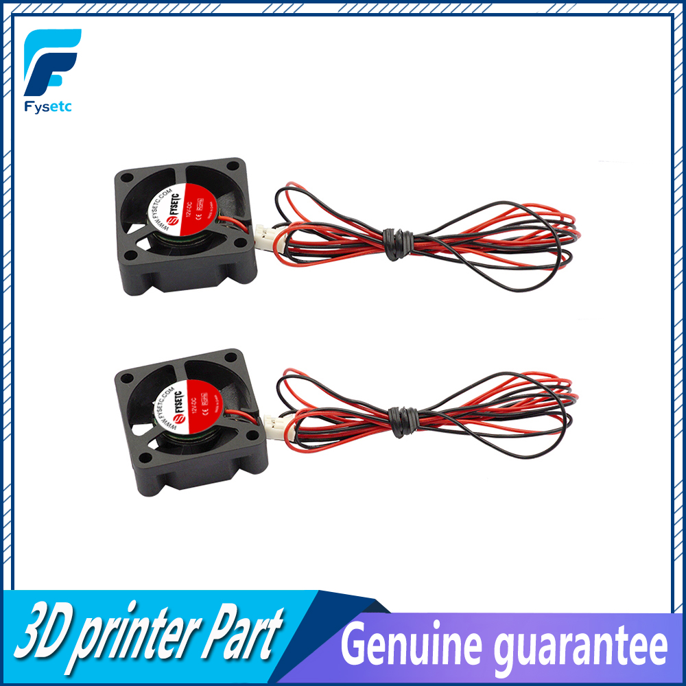2pcs/lot Mini 12V 3010 30MM 30 X 30 X 10MM 12V 2Pin DC Cooler Small Cooling Fan For 3D Print Part