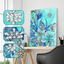DIY Special Shaped Diamond Painting Butterfly Flower Pattern Partial Drill Cross Stitch 5D Embroidery Gifts