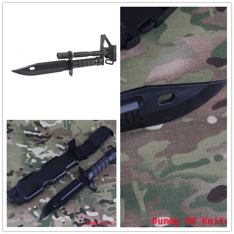 US $12 8 |EMERSON Cosplay cf m9 bayonet model plastic material BD3229  Tactical Accessories-in Tactical Headsets & Accessories from Sports &