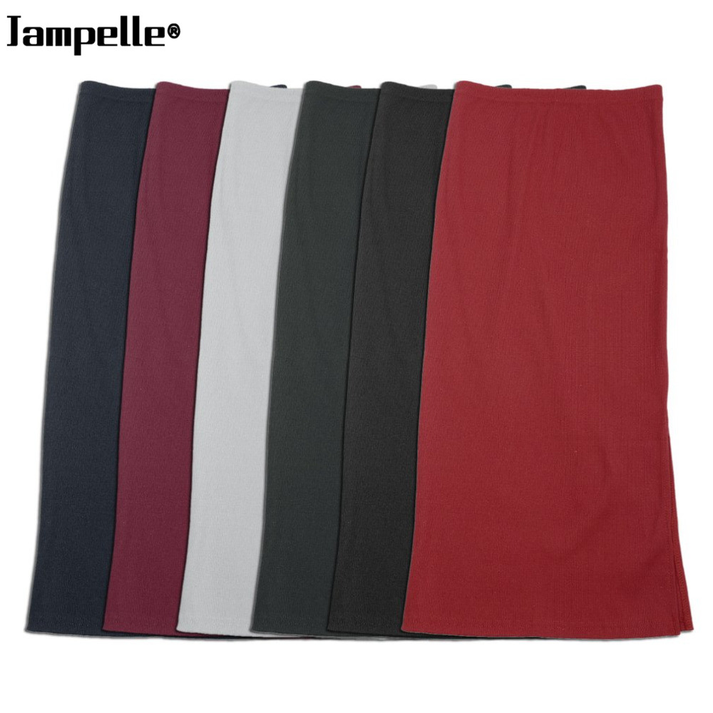 2017 Spring Autumn Stretch Slim Fit Women Sexy Pencil Skirt Package Hip Maxi Skirt Office Lady Winter Sexy Knit Knee-Lengh Skirt