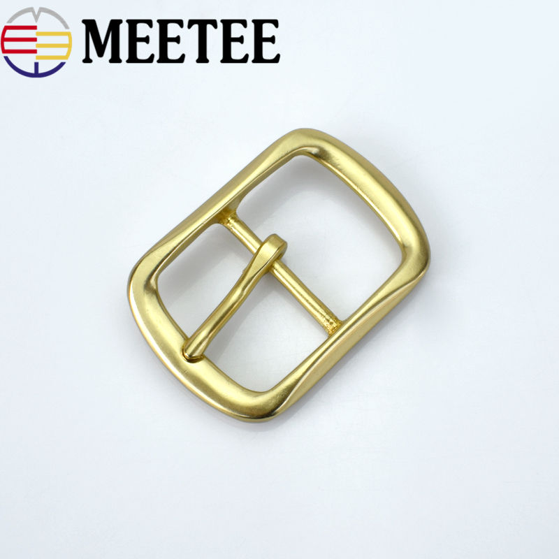 Meetee 40mm*55mm Solid brass good qualtity belt buckles Suitable 38mm wide men F1-83