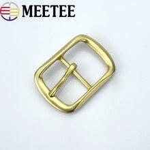 Meetee 40mm*55mm Solid brass good qualtity belt buckles Suitable 38mm wide men F1-83