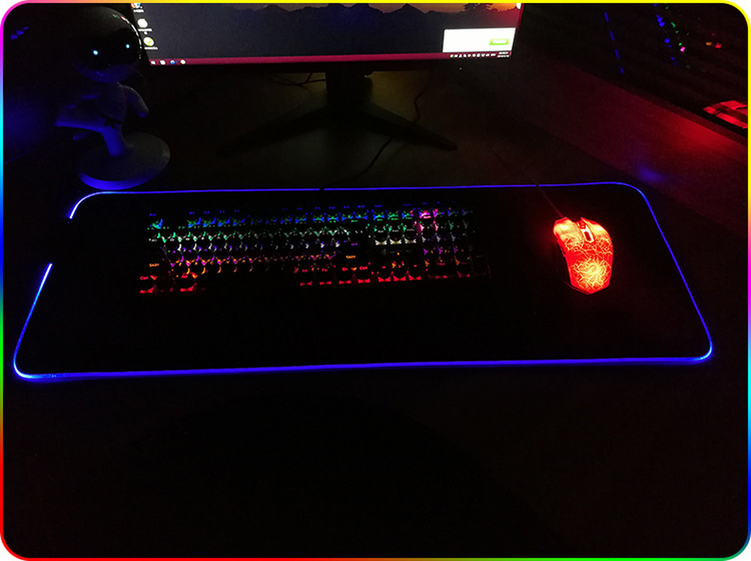 Image 3 - Large LED RGB Gaming Mouse Pad Overwatch xxl Desk Keyboard Mat USB Lighting Computer Mouse Pad World Map Gamer for LOL Dota-in Mouse Pads from Computer & Office